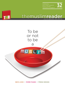 The Muslim Reader Volume 32 No 1 (2014) edition
