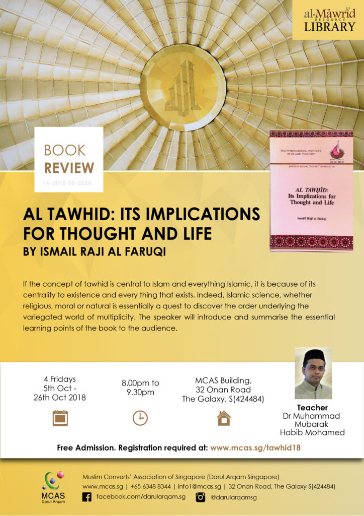 Book Review Al Tawhid Its Implication For Thought And Life By
