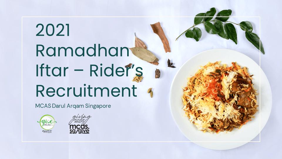 DRIVER RIDER RECRUITMENT - 2021 Ramadhan Iftar On the Go & Zakat Disbursement
